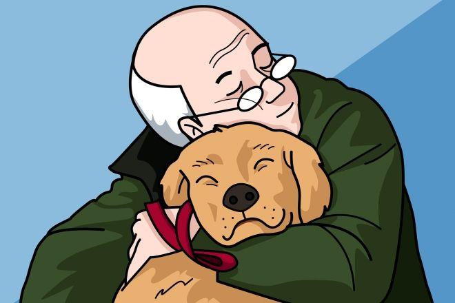 """Resultado de imagen de perro y abuelo dibujo"""""""