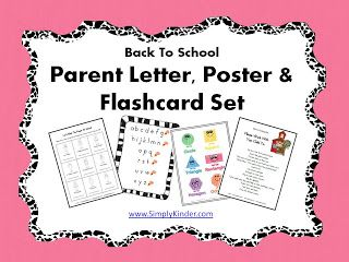 Free Back To School Parent Packet  Simply Kinder Parents And Teacher