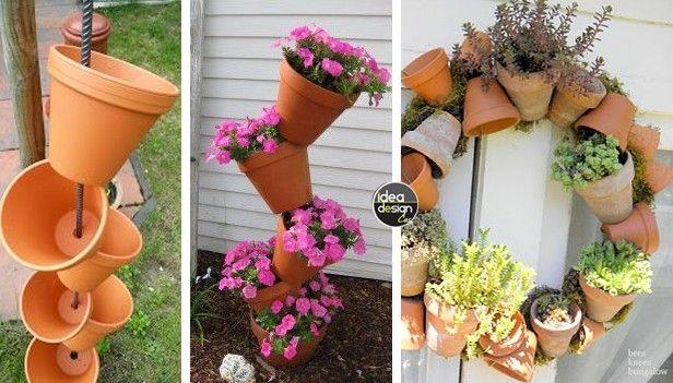 Decorazioni originali con i vasi in terracotta 20 idee fai da te facile da fiori - Vasi terracotta da giardino ...