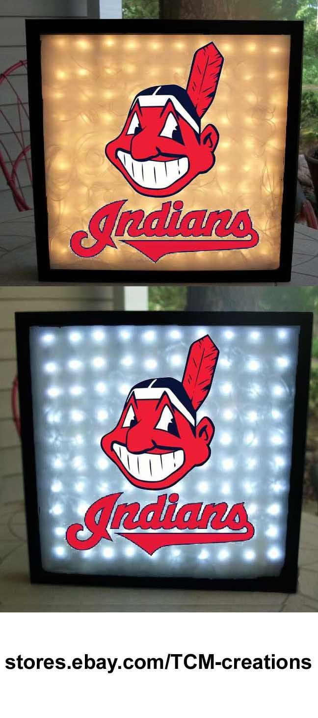 Mlb Major League Baseball Cleveland Indians Shadow Boxes With Led Lighting Baseball Shadow Boxes Major League Baseball Shadow Boxes