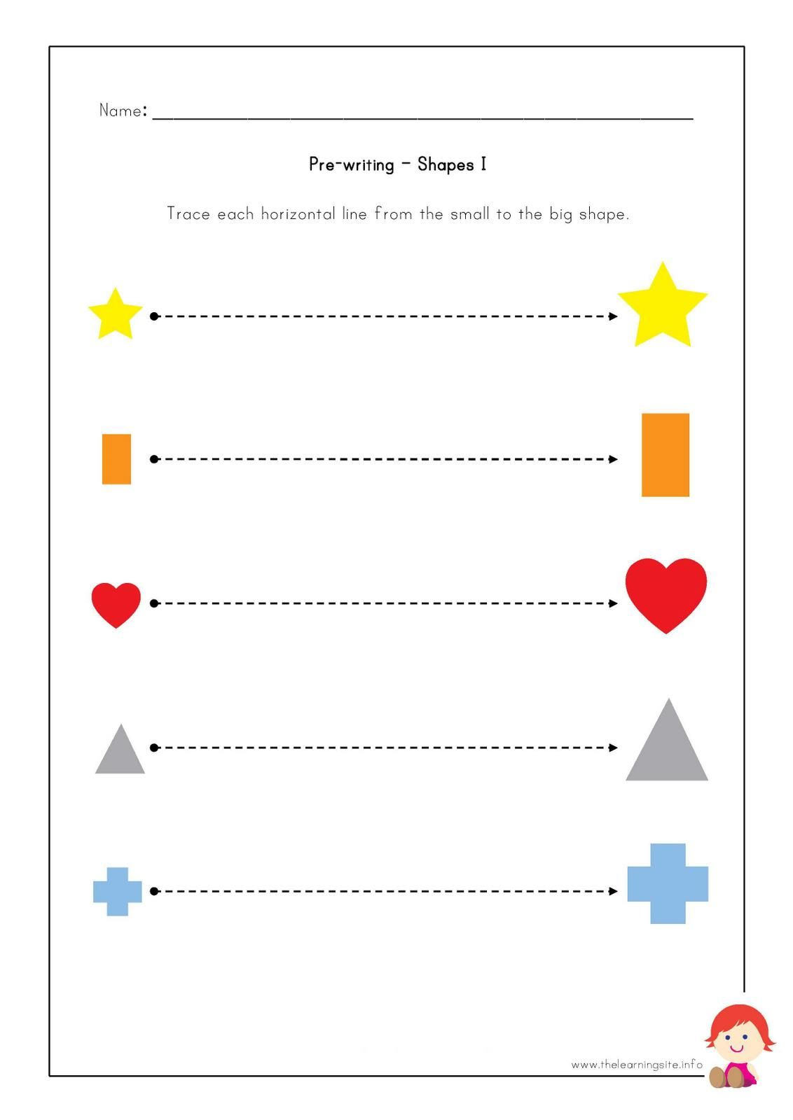 worksheet Pre Writing Strokes Worksheets the learning site pre writing worksheets shapes homeschool shapes