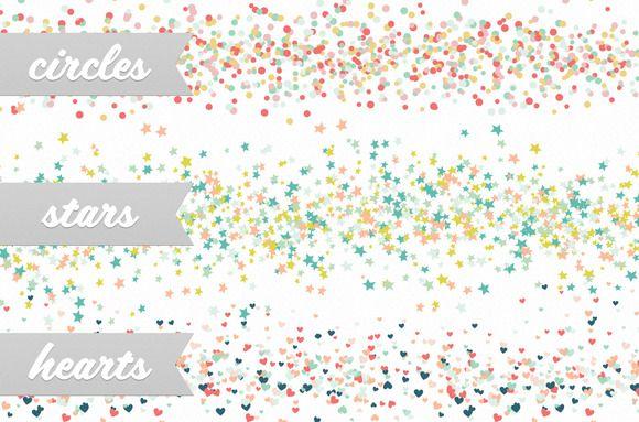 Confetti Party Scatter Brushes | Confetti
