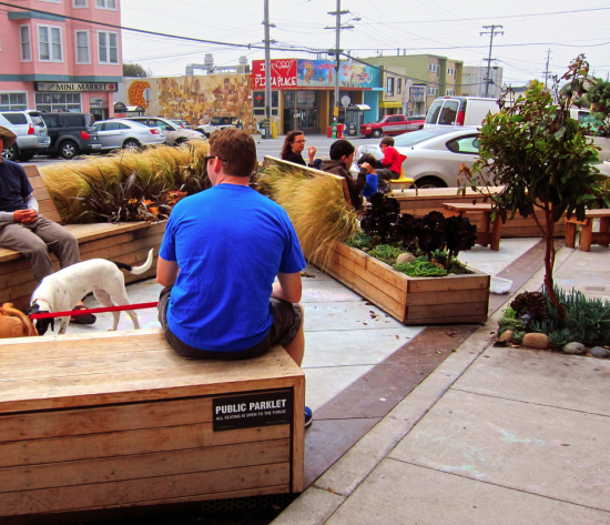 Make a one-day parklet in your street on international Park(ing) Day, Sept 19, 2014!