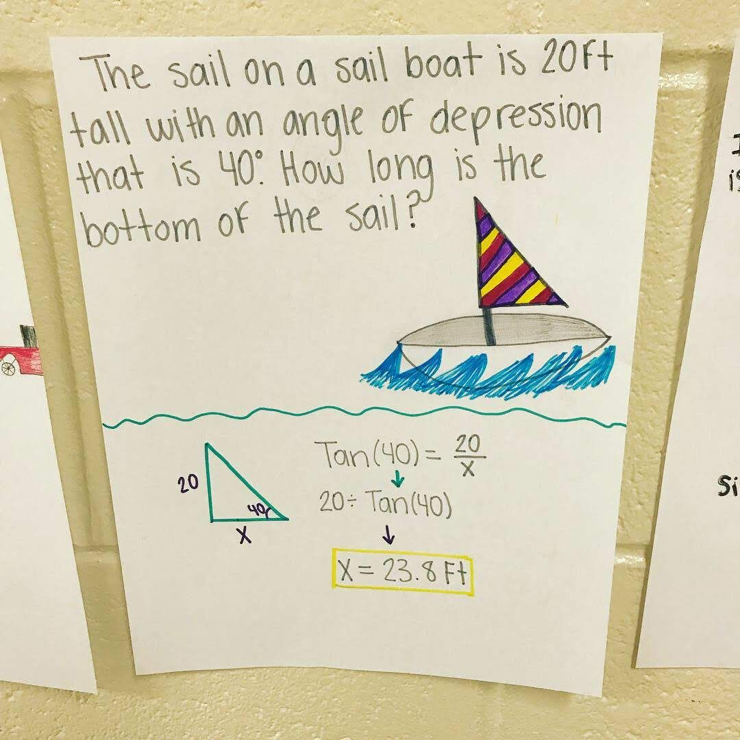 Trigonometry Lesson Word Problem Activity With Images Word