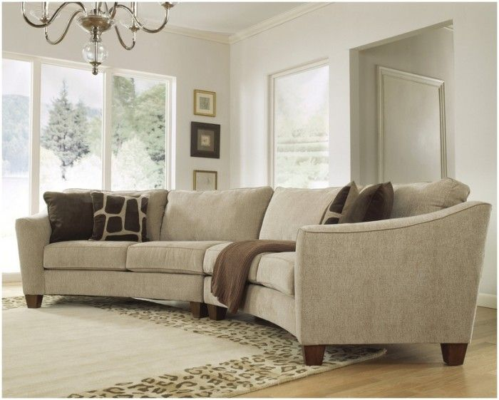 Furniture discount modern sectional sofas curved sectional for Curved sectional sofa for small space