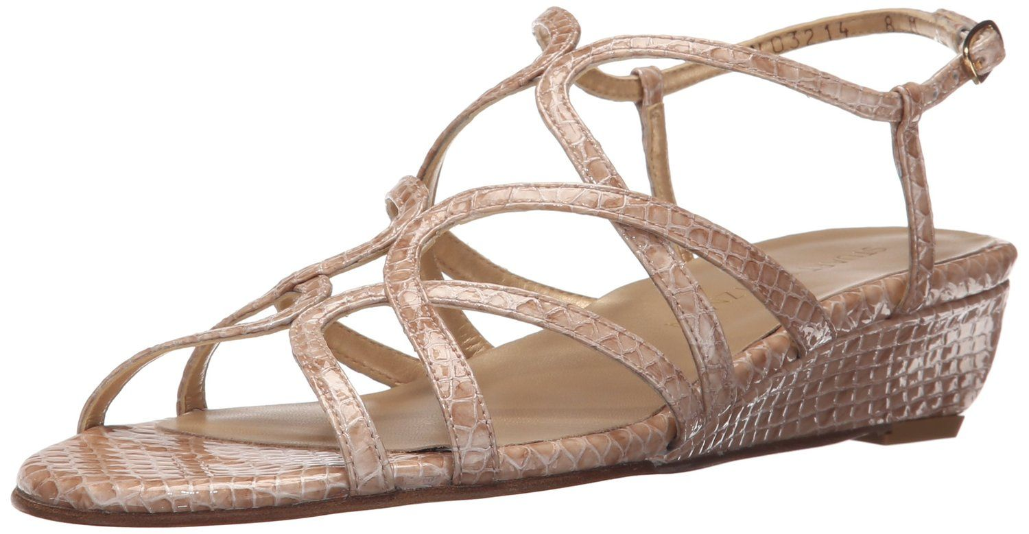 Stuart Weitzman Women's Turningdown Wedge Sandal *** Insider's special review you can't miss. Read more  : Wedge sandals