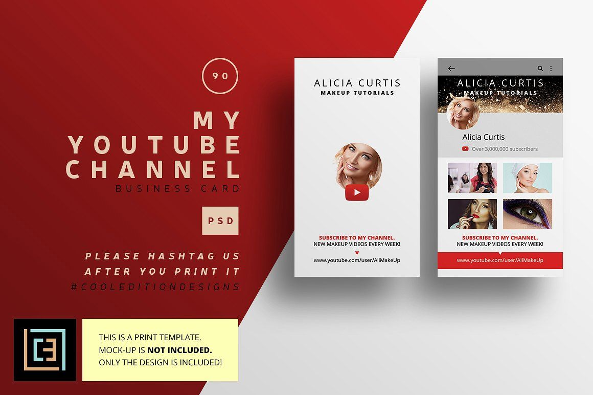 My Youtube Channel Business Card 90 With Images Business Cards