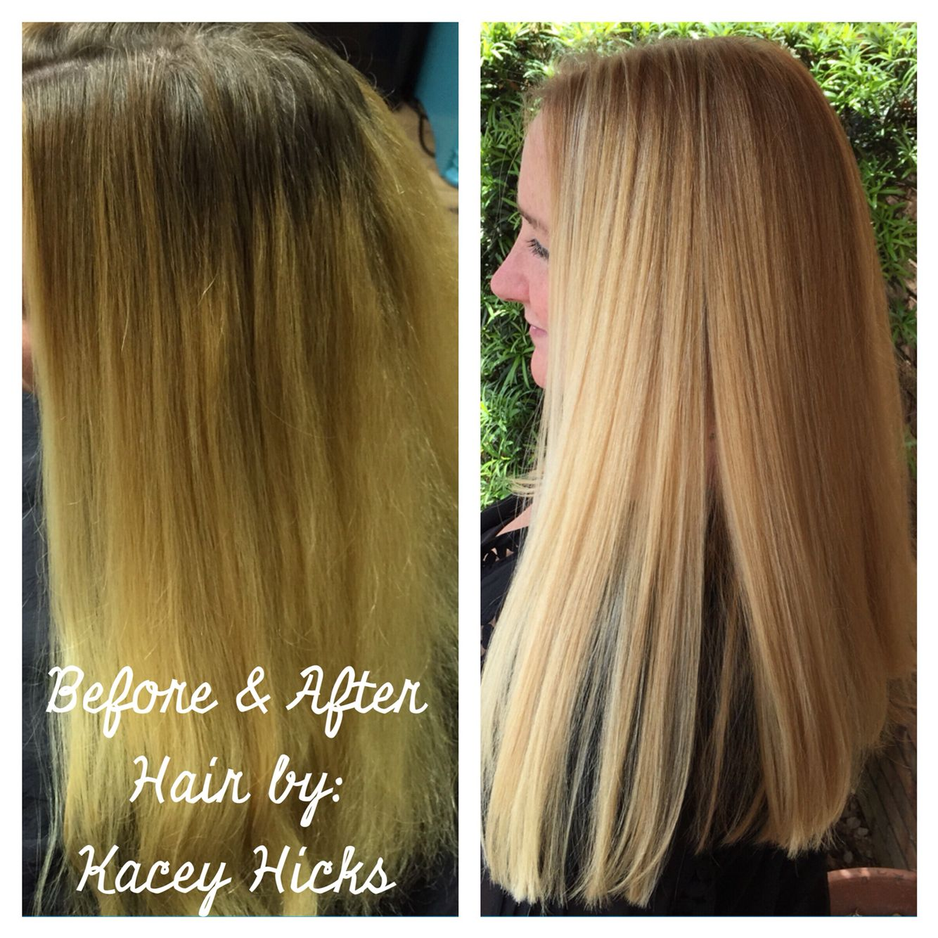 From at home box color to a salon service. #blonde #longhair ...