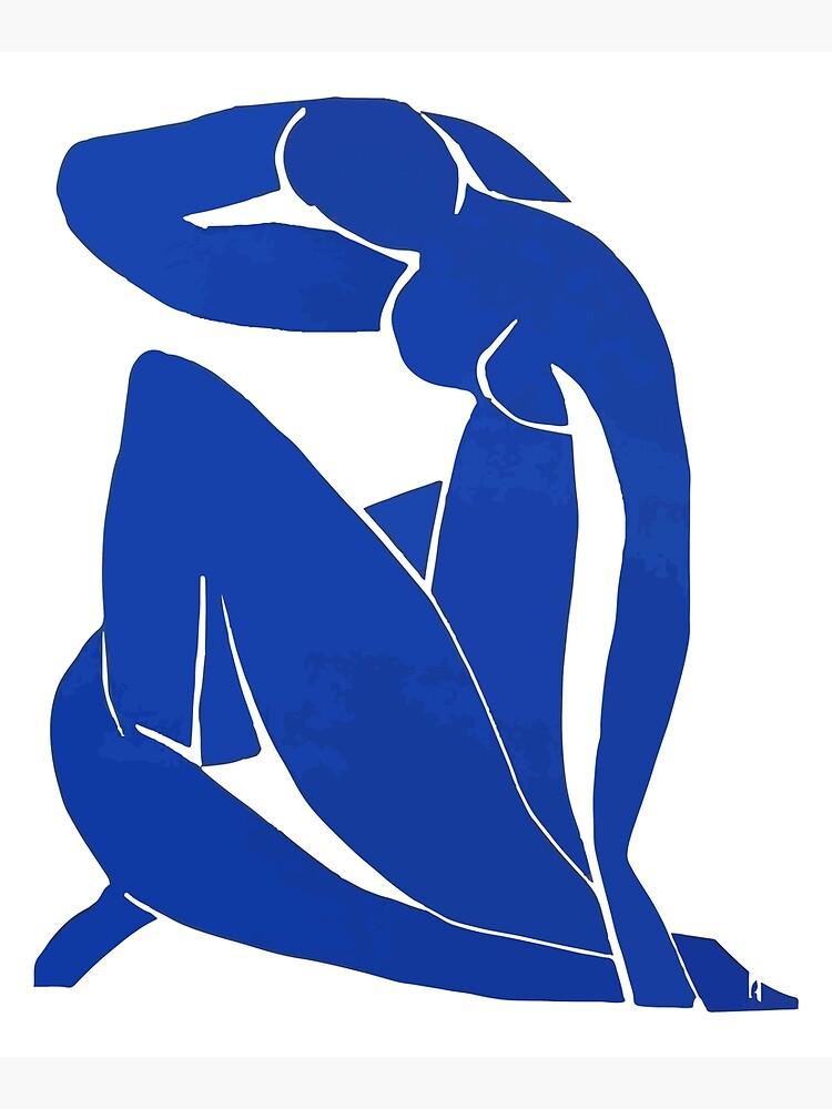Henri Matisse - Blue Nude 1952 - Original Artwork Reproduction Mounted Print