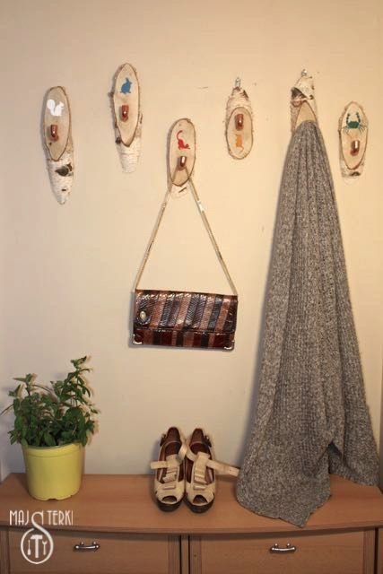Gorgeous Diy Hat Rack from Handy Girls. Birtch-tree and copper