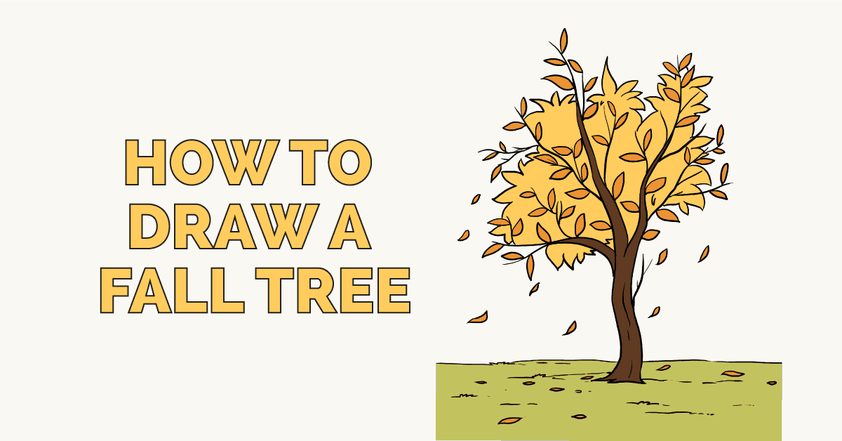 How To Draw A Fall Tree Really Easy Drawing Tutorial Easy Drawings Tree Drawing Drawing Tutorial Easy