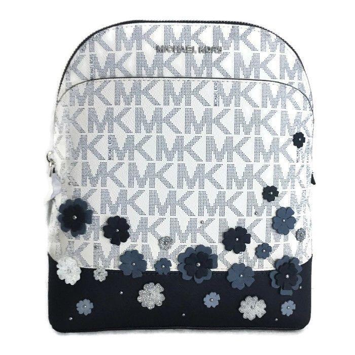 7a554516bdac ... Michael Kors Emmy Backpack Bag ~ Navy Blue Floral NWT Handbag 348 Flower  MichaelKors Backpack Michael ...
