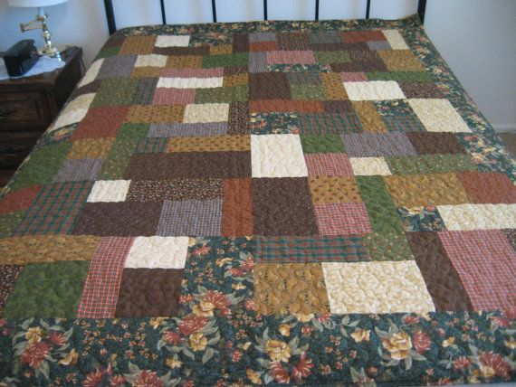 Fireside Chat lap quilt by MountainQuilts on Etsy, $175.00