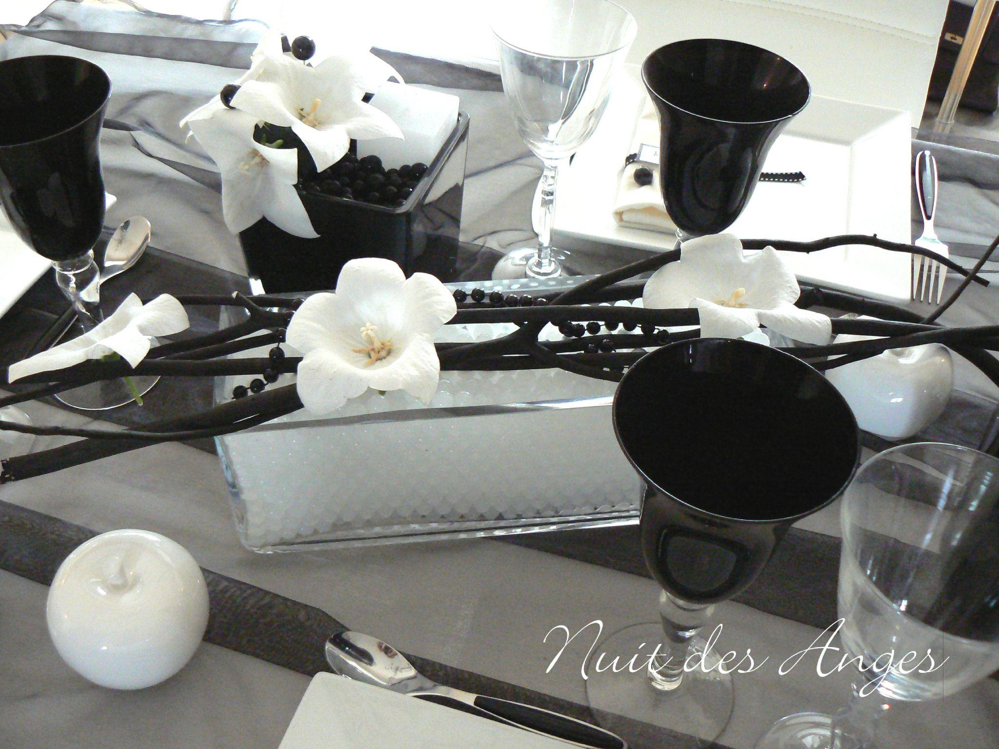 Superbe Idee Deco Mariage Noir Et Blanc #15: Nuit Des Anges Décoratrice De Mariage Décoration De Table Noir Et Blanc 009