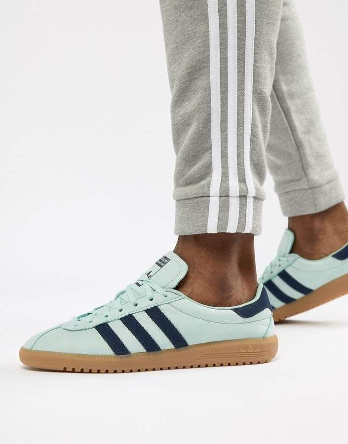 adidas Originals Bermuda Sneakers In Green CQ2783 | Sneakers