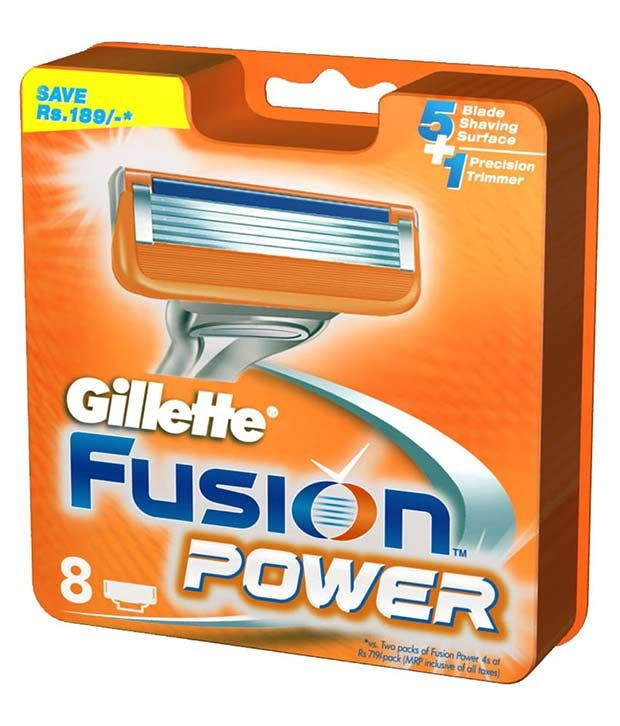 Gillette Fusion Power Blade 8 Cartridges 20 Off Gillette Power