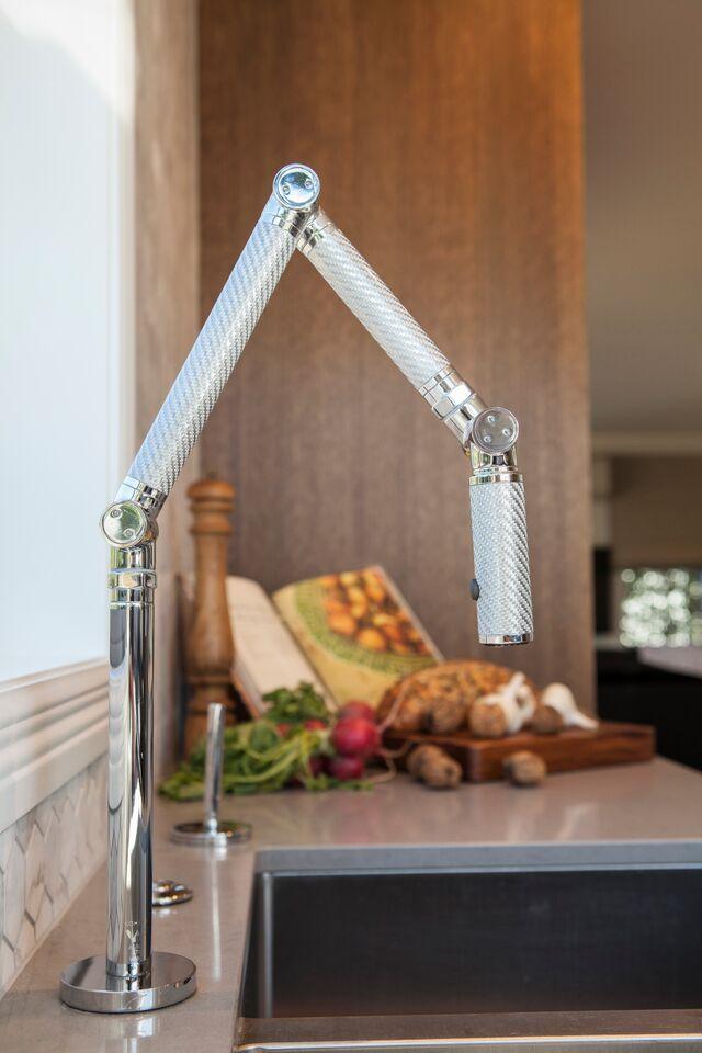 Kohler Karbon fibre sink mixer, on display in the Galvin Design ...