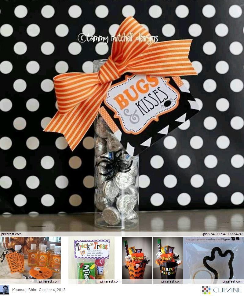 Cute gift for a Halloween party! #bostonproper Craft Ideas - cute halloween gift ideas