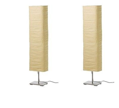 Ikea Magnarp Light Floor Lamp Set Of 2 Rice Paper Shade 57 Inch Height