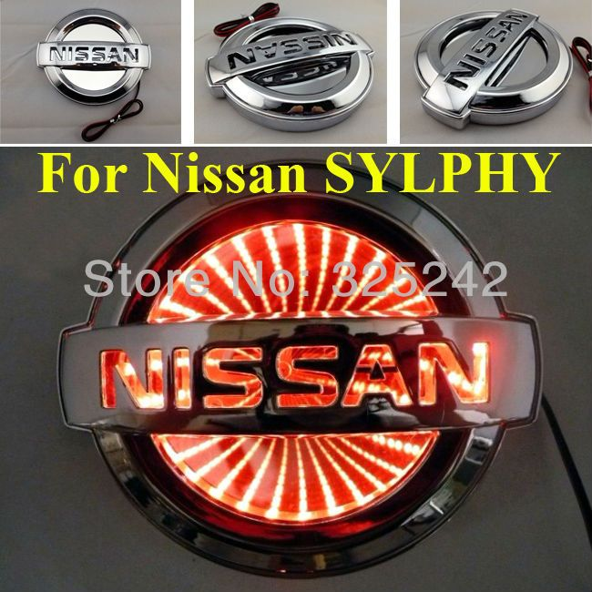 Free Shipping Led 3d Rear Badge Light For Nissan Sylphy Led Logo With 3d Effect Car Sticker Car Badge Car Emblems 15 00 Led Logo Nissan Tiida Car Badges
