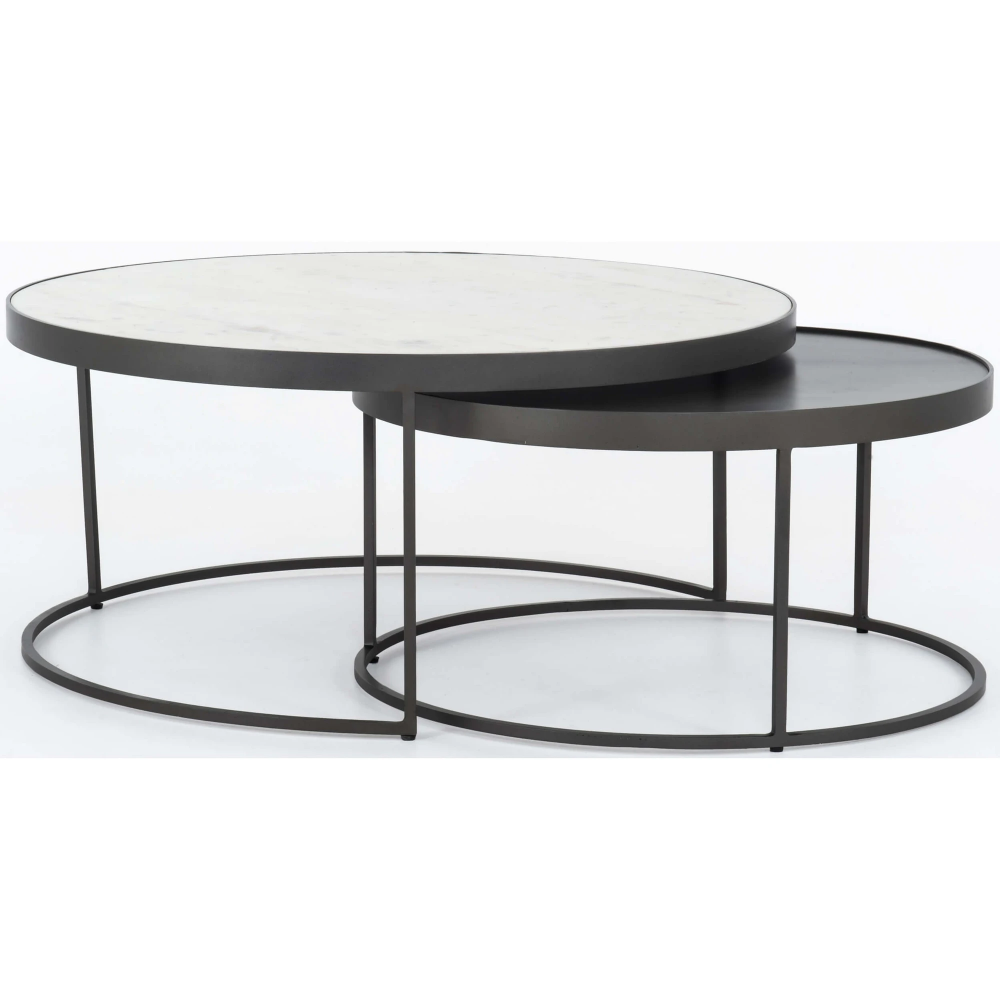 Evelyn Round Nesting Coffee Table Nesting Coffee Tables Round Nesting Coffee Tables Round Coffee Table Modern [ 1000 x 1000 Pixel ]