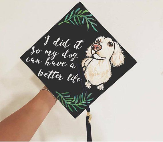 Custom Painted Graduation Cap // Please read details