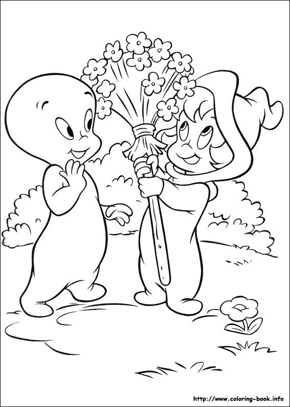 Casper Coloring Picture Witch Coloring Pages Cute Coloring