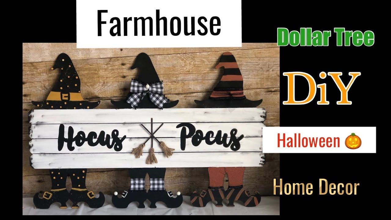 Dollar Tree DIY | Farmhouse Halloween Decor - YouTube #dollartreecrafts