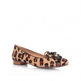 Kurt Geiger | CAT Leopard Flat Slip On Shoes by Carvela Kurt Geiger