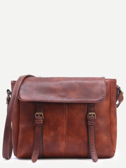 3e6d4b75de15 Camel Dual Buckled Strap Messenger Bag