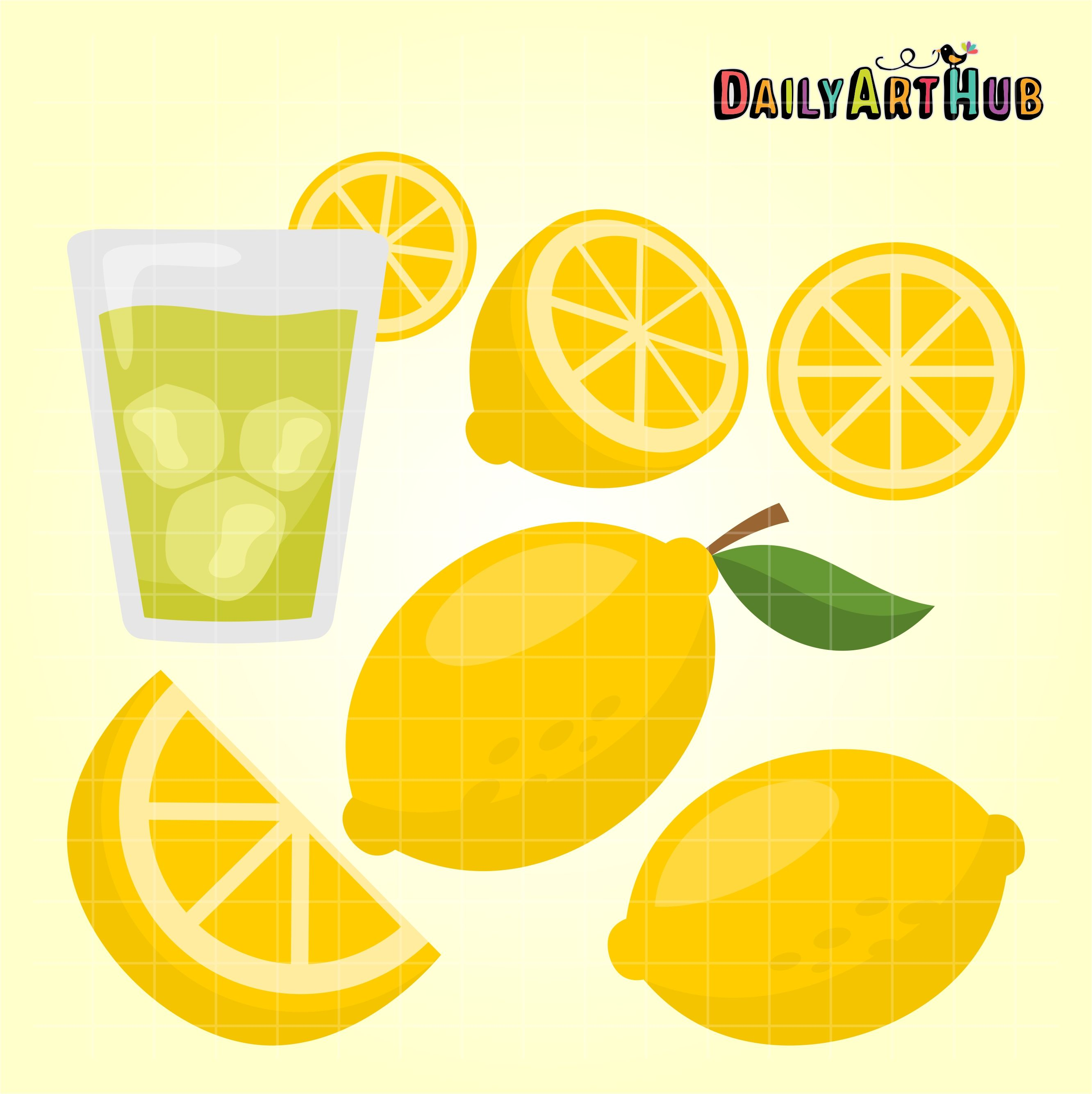 Lemon Clip Art Set Free clip art, Clip art, Art set