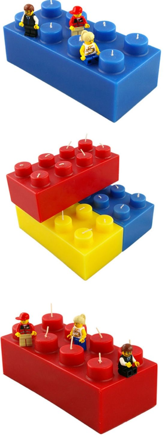 Lego Candles - great for a boy birthday party