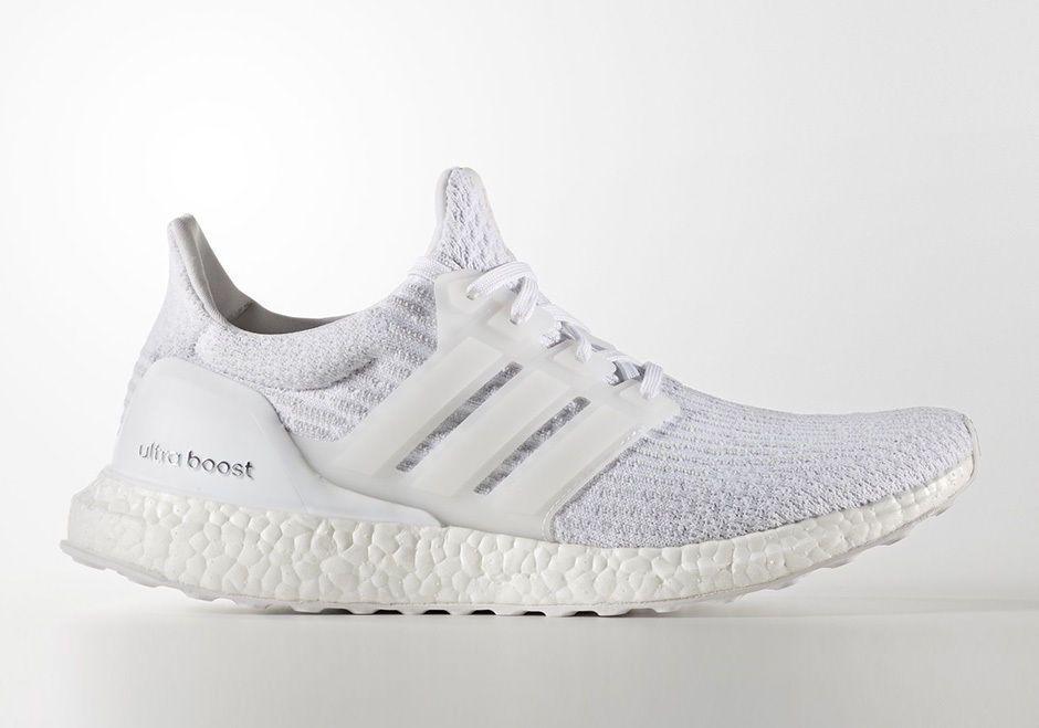 Adidas Ultra Boost 3.0 Triple White, Men's Fashion, Footwear