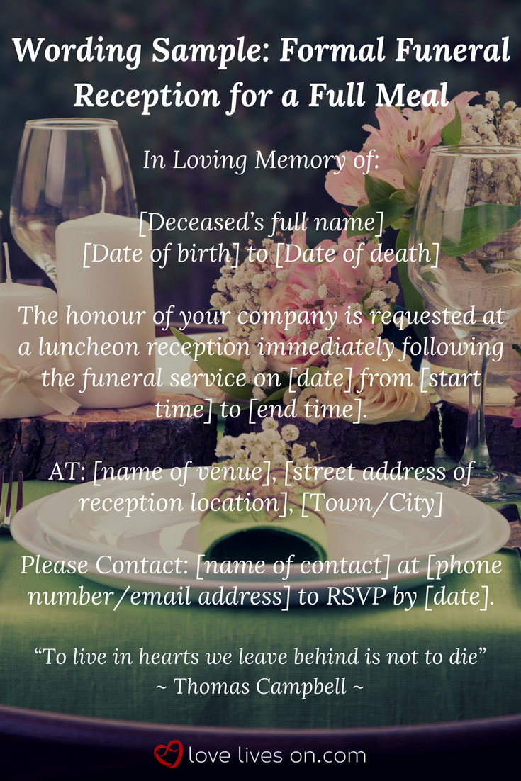 39 Best Funeral Reception Invitations 39 Best