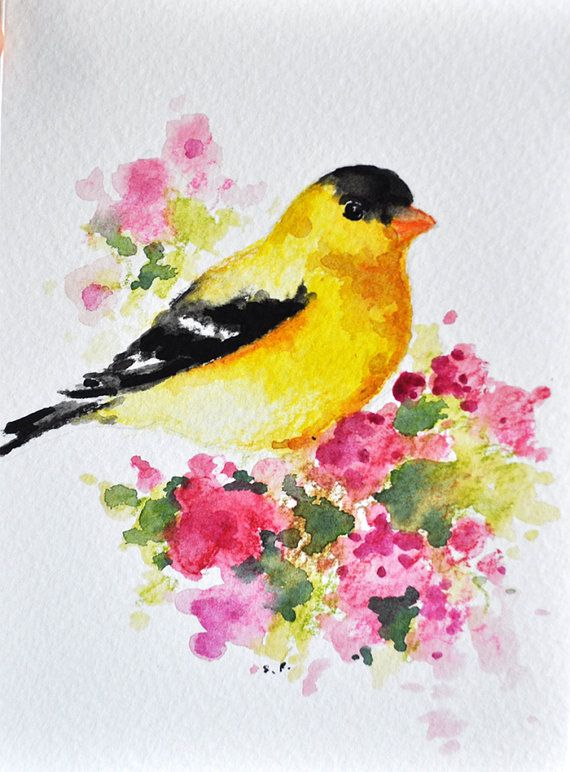 Original watercolor greeting card on acid free watercolor paper ...