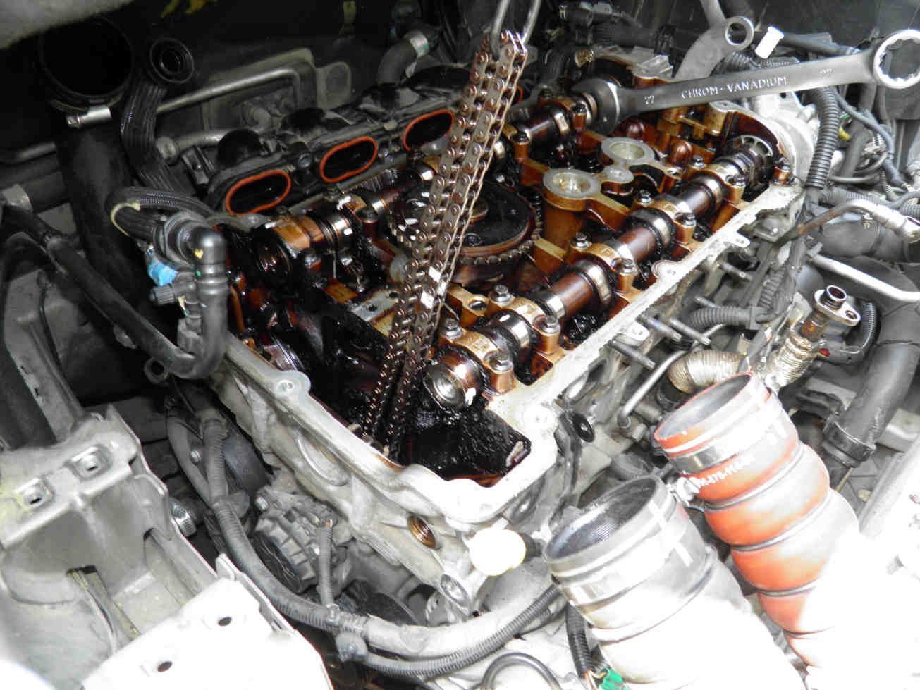 ep6 engine peugeot 1 6 thp timing chain partial removal for head rh pinterest com