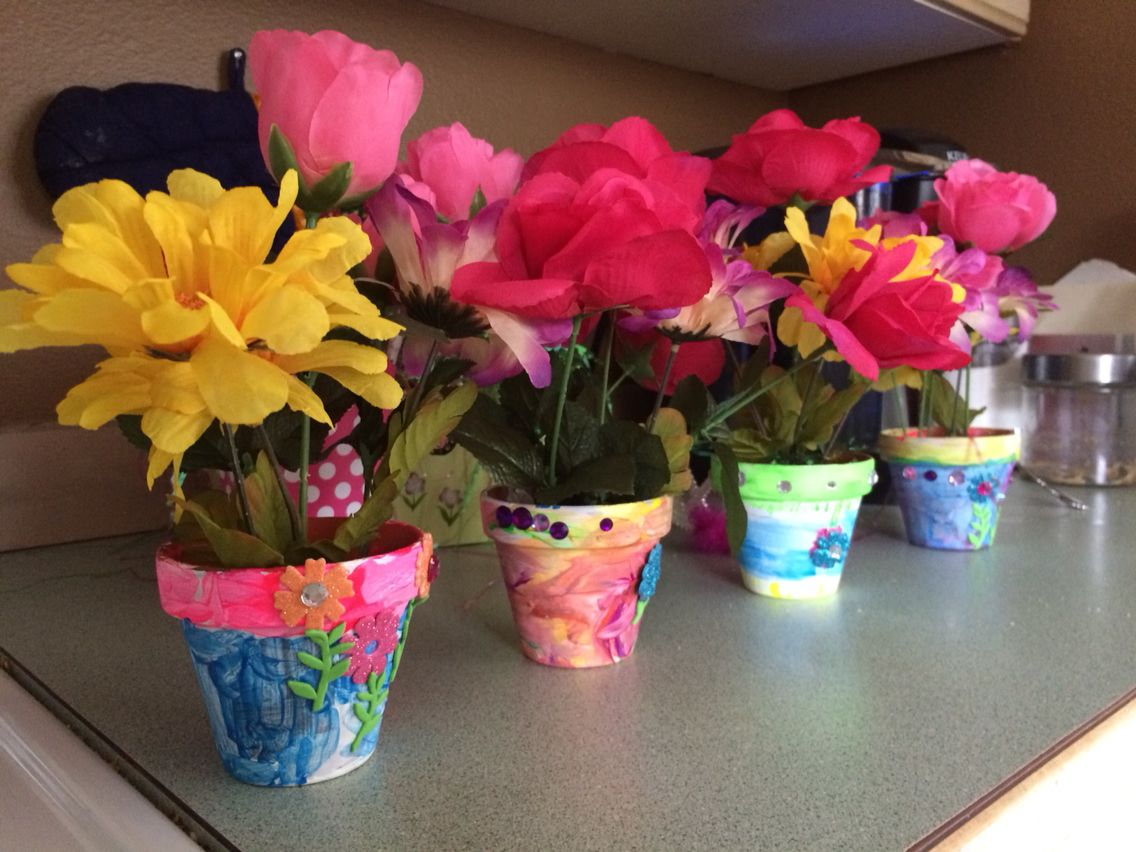 Create your own flower pot arrangement project for kids