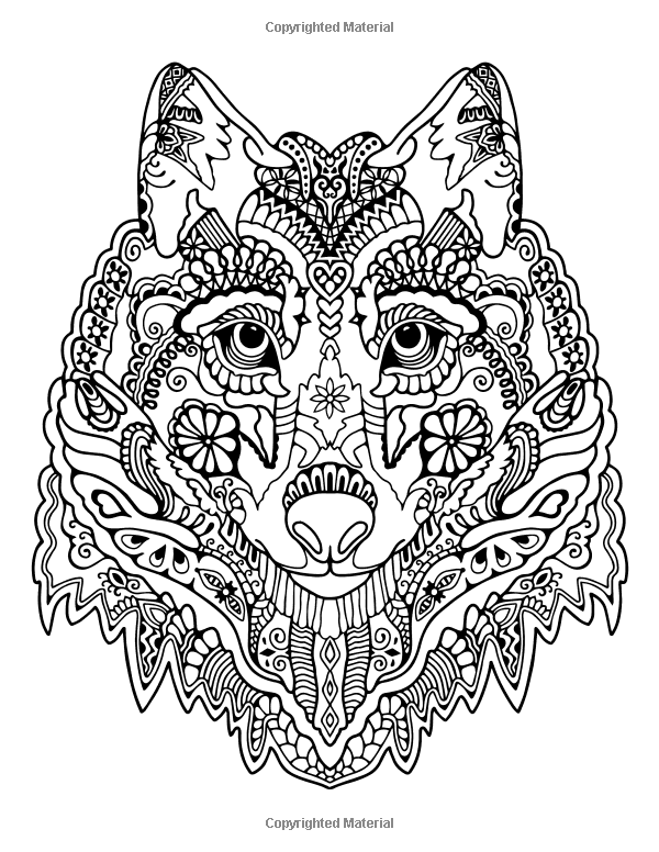 Awesome Animals: A Stress Management Coloring Book For