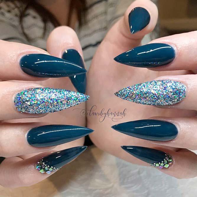 trendy long acrylic nails