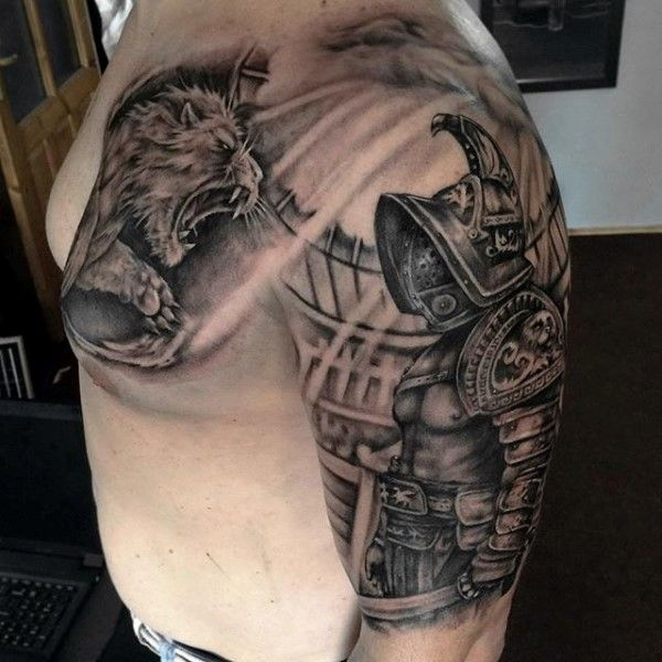 Gladiator Combat Tattoo On Man | Гладиаторы | Pinterest ...