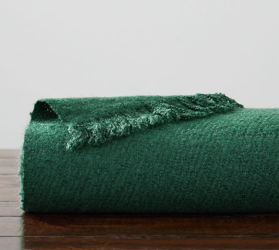 Boucle Faux Mohair Throw 50 X 60 Quot Emerald Pottery Barn