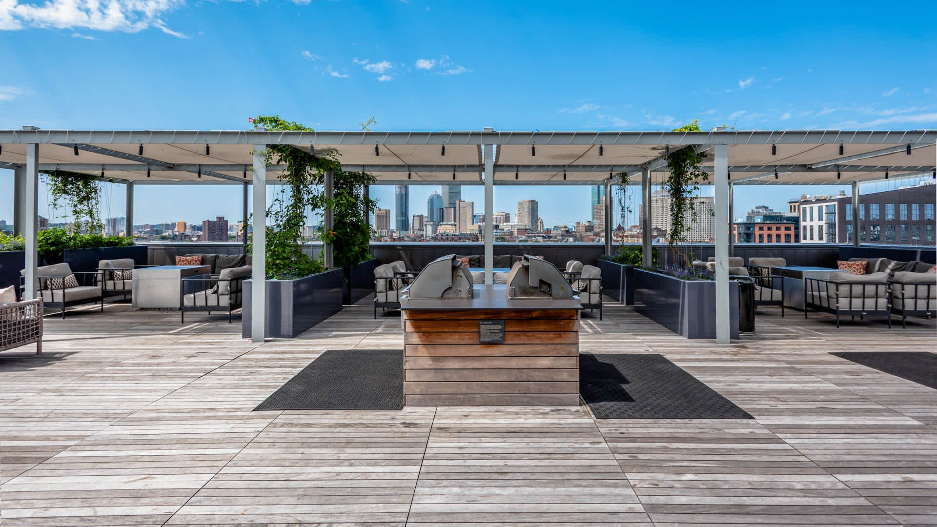 Troy Boston Apartments Rooftop Patio Rooftop Design Apartment Rooftop Rooftop Patio