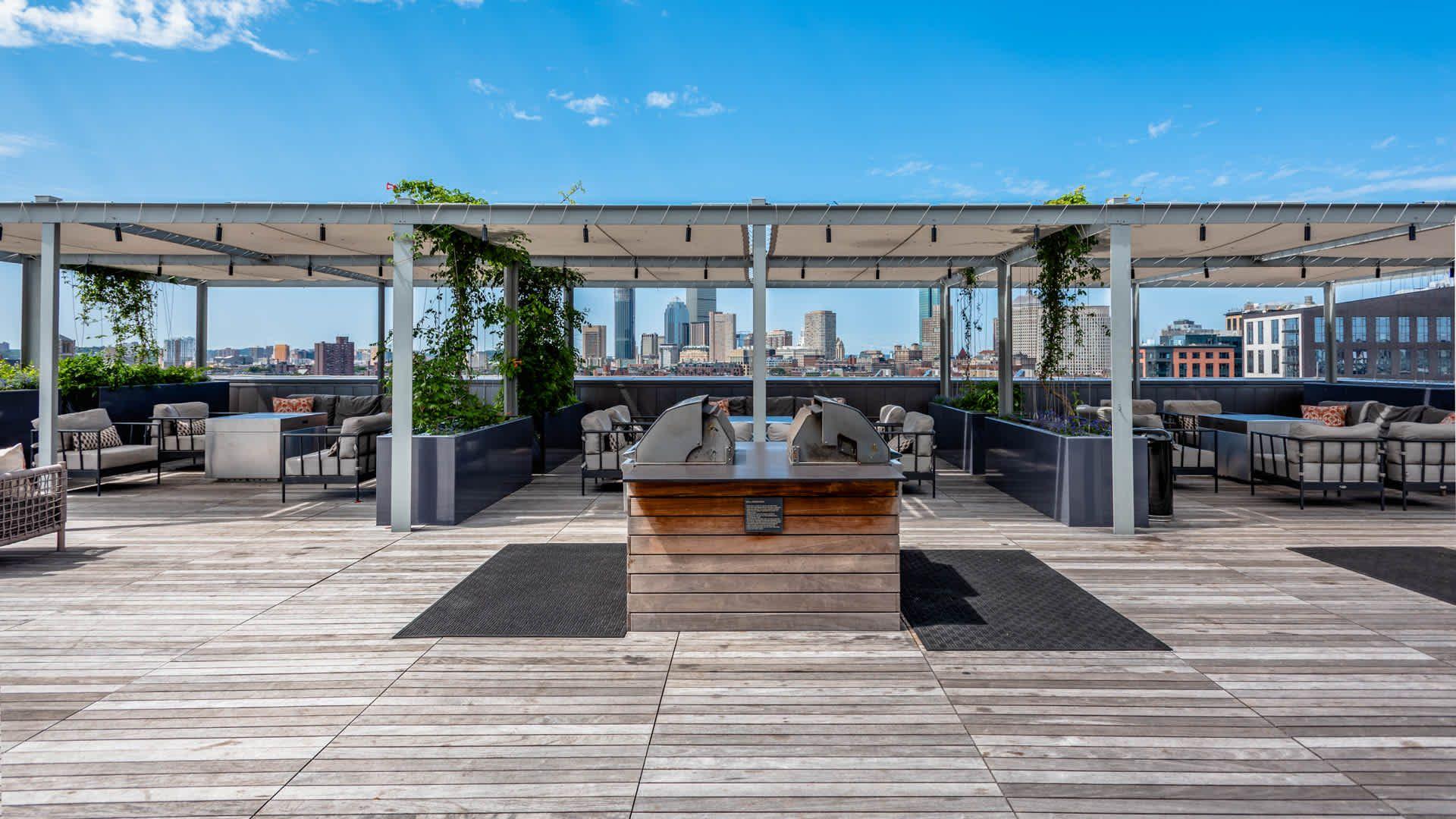 Troy Boston Apartments Rooftop Patio Boston Apartment Apartment Rooftop Rooftop Design