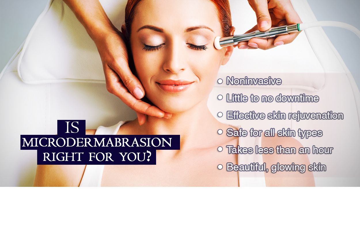 Microdermabrasion is a gentle and versatile skin