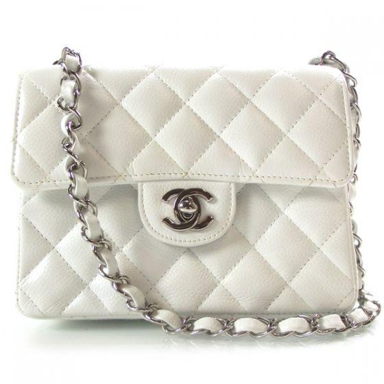mini white chanel bag