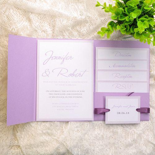 Cheap simple lavender pocket wedding invitations ewpi124 lavender cheap simple lavender pocket wedding invitations ewpi124 as low as 169 filmwisefo