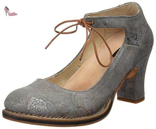 Neosens S278 Fantasy Baladi, Chaussures à Talon avec Bout Fermé Femme, (Floral Black), 38 EU