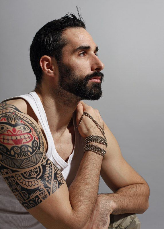 I Love Me Some Tattooed Good Looking Men If They Can Wear The Shit Out Of A 3piece Suit Even Better Tattoos Tribal Shoulder Tattoos Haida Tattoo