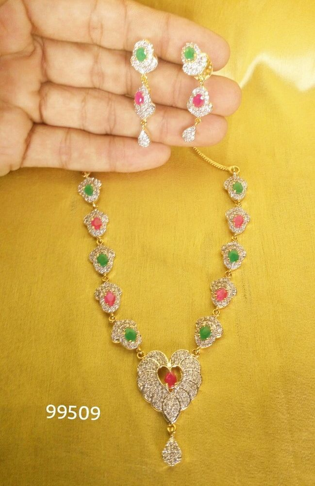 c1ece50e7c Indian Gold Plated Green, Red Colour Beads Designer Fashion Necklace Jewelry  Set #VardhamanGoodwill #Chain