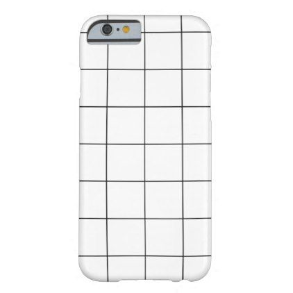 Minimal Black and White Checkbox Pattern Barely There iPhone 6 Case ...